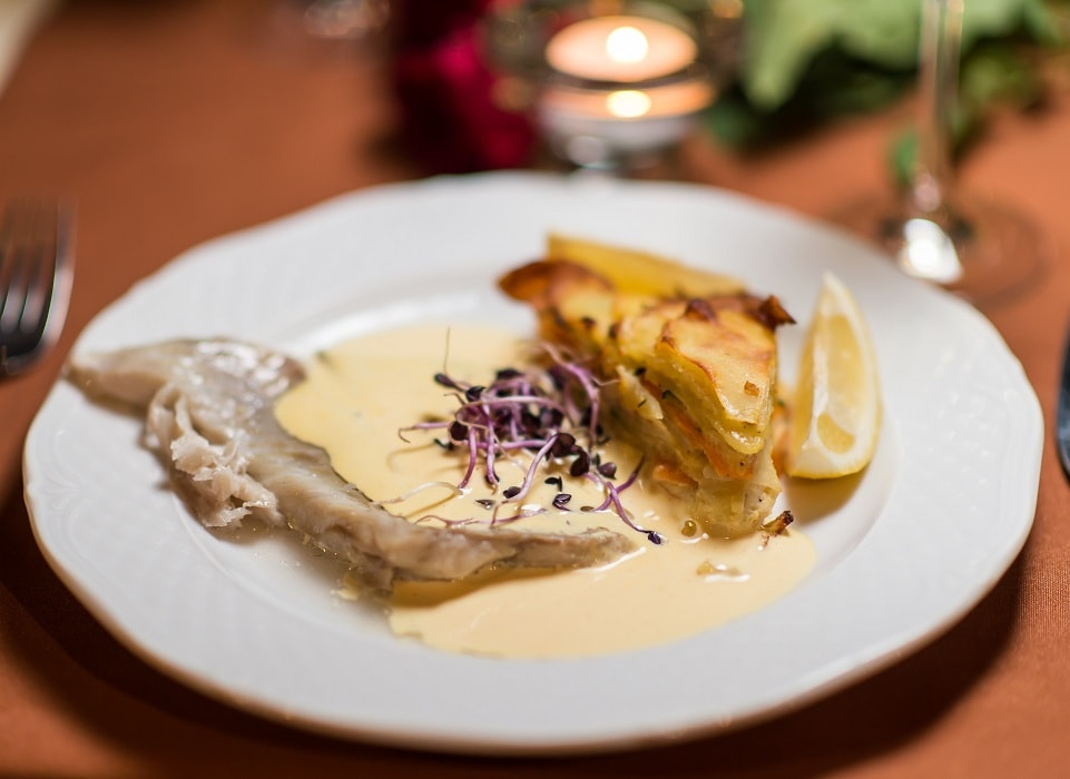 Black Cod Fillet with Sauce Hollandaise and Vegetable – Lasagne