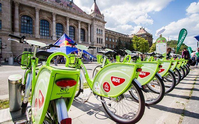 bikes at Budapest