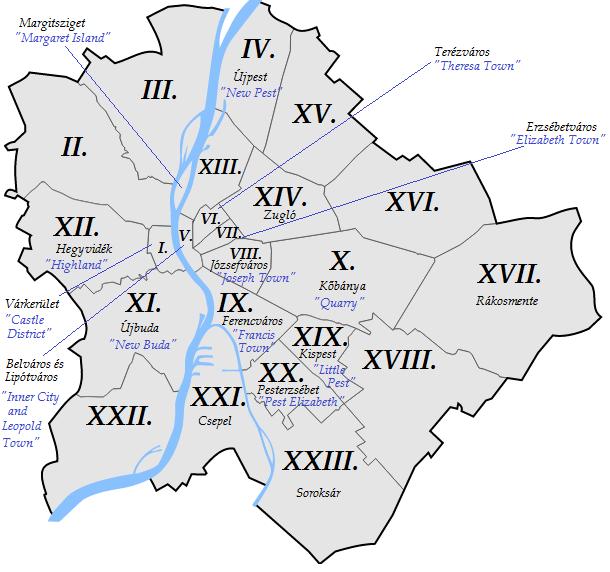 """Képtalálat a következőre: """"districts of budapest"""""""