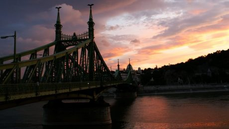 Sunset In July Budapest river cruise