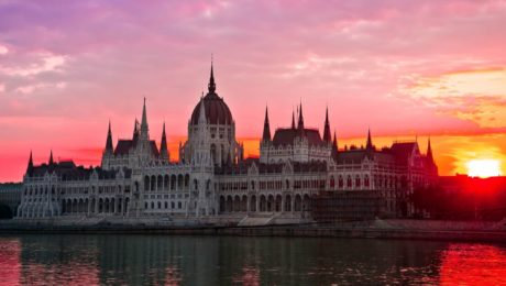 Budapestt Sunset in September