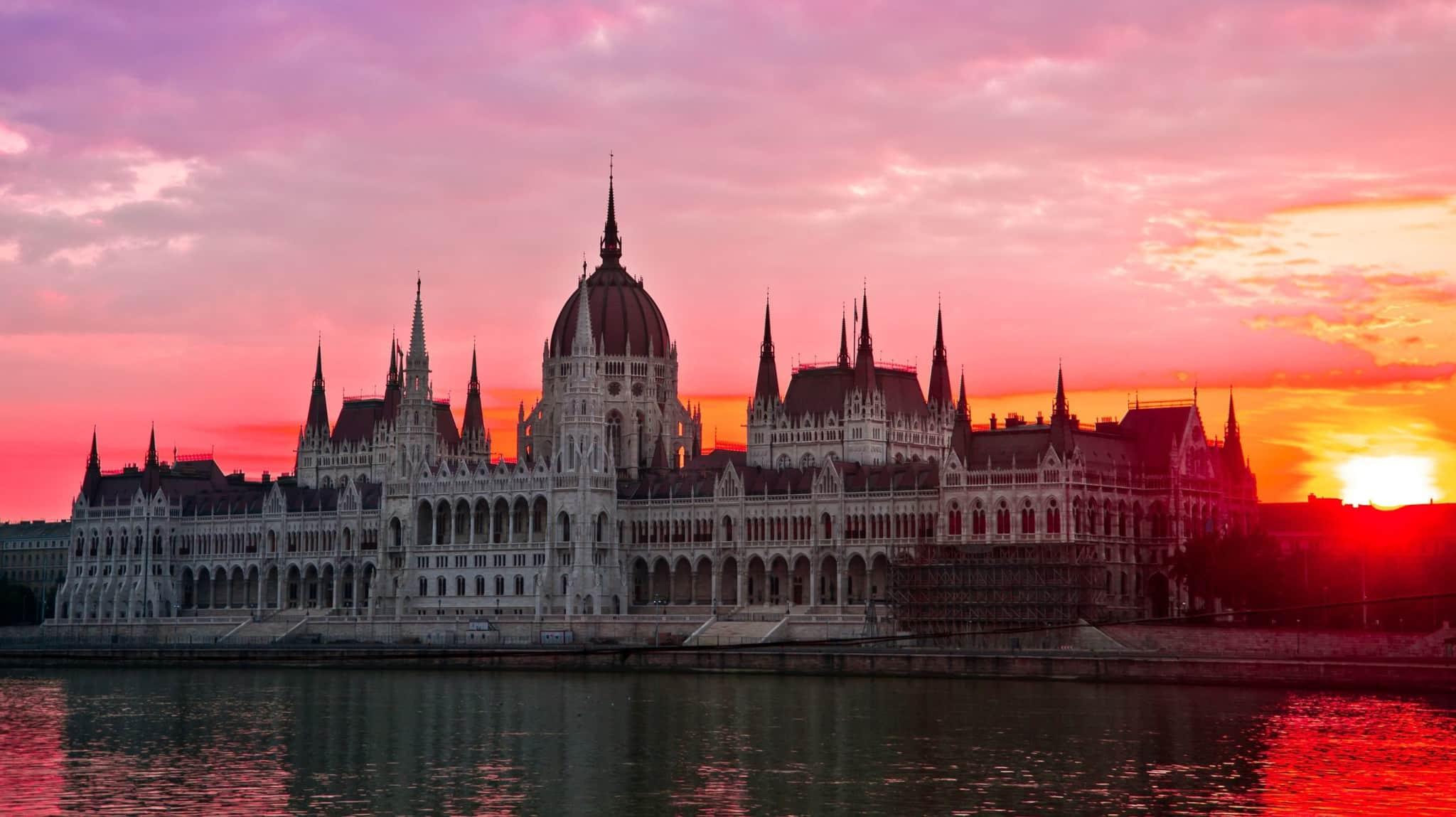 Budapestt Sunset in September