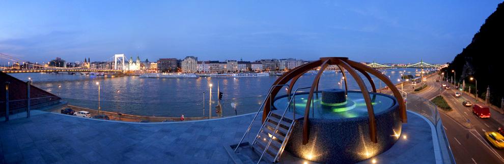 Rudas Bath Panoramic view Budapest