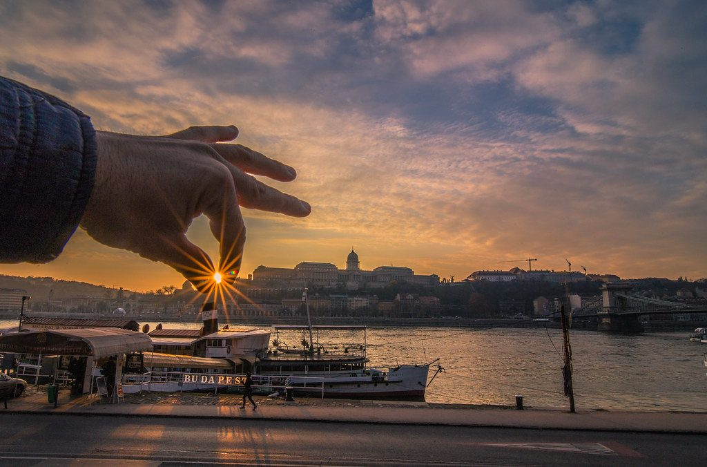 Sunset in Budapest November