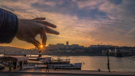 Sunset in Budapest November