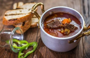 Traditional Hungarian fish soup